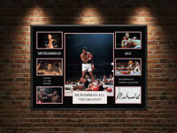 MUHAMMAD ALI  A4 BOXING LIMITED EDITION CANVAS TRIBUTE SIGNED GREAT GIFT