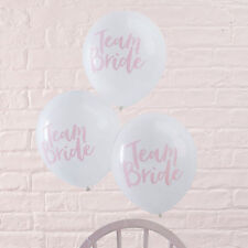 Hen Party Balloons x 10 Team Bride rose pink party decor by Ginger Ray
