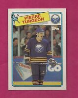 1988-89 TOPPS # 194 SABRES PIERRE TURGEON ROOKIE NRMT-MT CARD (INV# 8440)