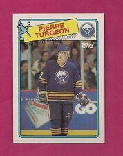 1988-89 TOPPS # 194 SABRES PIERRE TURGEON ROOKIE NRMT-MT CARD (INV# 8440)
