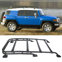 For 07-14 Toyota FJ Cruiser Factory Style Black Aluminum Roof Rack Top Cargo