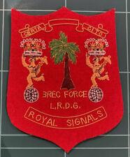 Royal Signals 3 REC FORCE LRDG Bullion Patch
