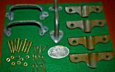 Vintage Dunphy Row Boat Brass Handles & Oar Lock Sockets