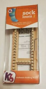 KB Sock Loom 2 Adjustable Knitting Board with Hook & Instructions New
