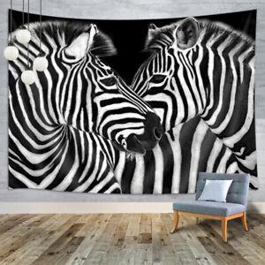 Black and White Striped Zebra Tapestry for Bedroom Living Room Dorm Decor