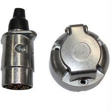 7 Pin Round Metal Plug Socket Light Wire Alloy Car Trailer Truck Carvan 99004001