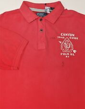 New $125 Polo Ralph Lauren Red Canyon Trail Guide Cotton Mesh Polo / XLT