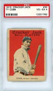 1915 Cracker Jack Ty Cobb #30 PSA 4 P901