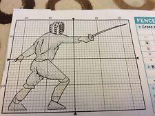 Fencer Mini Cross stitch chart Only (m5)