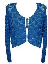 Dark Star Blue Crochet Gothic Shrug Bolero Top M-XL 1X 2X 3X Plus Size