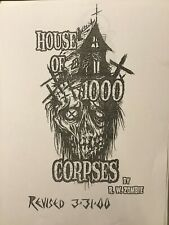 HOUSE OF 1000 CORPSES Script ROB ZOMBIE Revised Edition