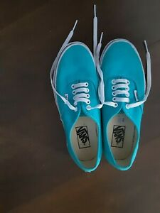 VANS UK SIZE 6. GOOD CONDITION. TURQUOISE.