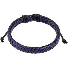 1 Diagonale Noir Bleu Bracelet en cuir 190 - 250mm NEUF BIJOU de COOLBODY