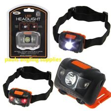 2 x NGT White Red Light 100 Lumens Cree Head Lamp Torch Fishing Shooting Camping