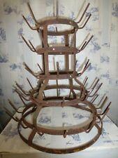 More details for vintage french metal bottle dryer