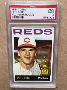 Original 1964 Topps #125 Pete Rose PSA 9 Mint MLB 'HIT KING' None Graded Higher