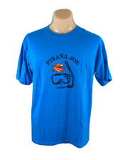 Pirana Joe ~ Aruba Men's Blue T-Shirt ~ Size Large L Beach