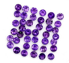 1.48 Cts Natural Amethyst Round Cut 2.50 mm Lot 25 Pcs Purple Loose Gemstones