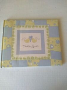 Wedding Guest Book Sign In Blue Yellow Birds