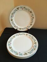 """SET OF 4 Fine China of Japan #6701 VINTAGE 10-1/4"""" Dinner Plates"""