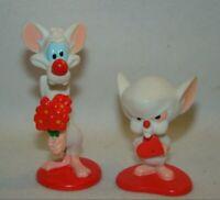 Vinatge 1997 Animaniacs Pinky & Brain Valentine's Day PVC figures set of 2