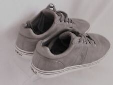 Polo Ralph Lauren Men's Hanford Leather Sneakers Gray Size 10 D MSRP $65