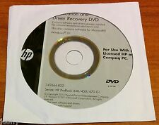 HP Windows 7 8.1 Application and Driver Recovery DVD CD Probook 440 450 470 G1