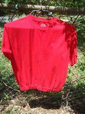 Unisex Red T-Shirt Size Medium Elastic  Bottom