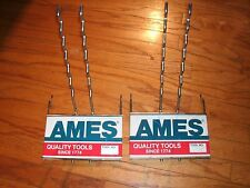 Lot of 2 Vintage Ames Quality Tool Store Display Racks - Metal Advertising Signs