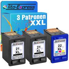 2x HP 21 & 22 XL Druckerpatronen Deskjet F378 380 F380