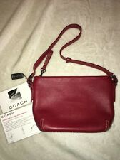 COACH NEW Vintage Mini Handbag Duffle Convertible Wristlet Bag Cherry Red Purse