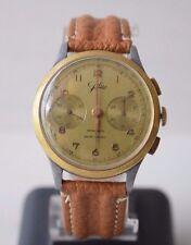 Antique Swiss Military Aviation JOLUS WWII Chronograph Wrist Watch 17 Rubis Rare