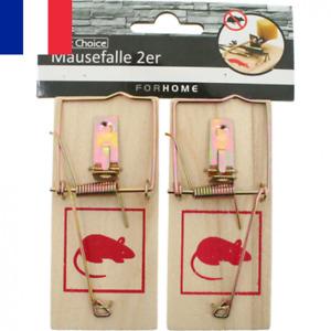2 X Piège à Souris Rat Tapette Attrape Rongeur Souricière 10x4,5cm Dératisation