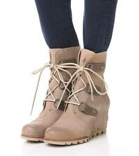 NWT Sorel Joan of Arctic Leather Wedge Mid Boot, Oxford Tan, sz 10 (41 EUR)