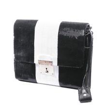 MARC JACOBS Clutch Schwarz Weiß Damen Tasche Bag Sac Pailletten Abendtasche