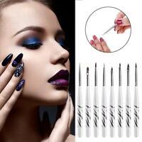 8Pcs/Set UV Gel Nail Art Brush Painting Drawing Liner Polish Pen Tools DIY Kit