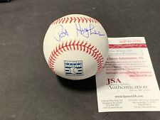 Pat Hughes Chicago Cubs Autographed Signed Hall of Fame Baseball JSA WITNESS COA