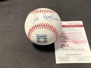 Pat Hughes Chicago Cubs Autographed Signed Hall of Fame Baseball JSA WITNESS COA