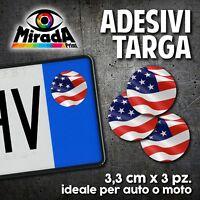ADESIVI STICKERS BOLLINO TARGA BANDIERA AMERICA USA FLAG AUTO MOTO PLATE CAR 2