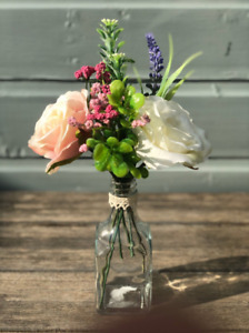 Pretty Glass With Spring Floral Posy