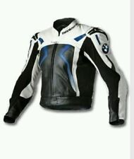 BMW BLUE MOTORBIKE RACING LEATHER JACKET CE APPROVED