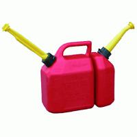 tanica pvc a doppio scomparto olio miscela 2,5+6 litri carburante olio motosega