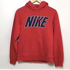 Nike Sweatshirt Vtg Red Hoodie Hooded Blue Tag Mesh Fabric Spelled Nike Sz S