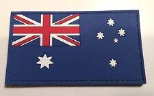Australian Flag Patch, PVC / Rubber, Hook Rear, 8cm x 4.5cm