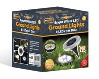 4 Pc Solar Powered Decking Lights Ground Floor Outdoor Lawn Garden Path