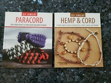LOT of 2 Leisure Arts DIY Jewelry Books Hemp & Cord AND Paracord - NEW