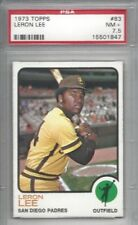 1973 Topps baseball card #83 Leron Lee, San Diego Padres graded PSA 7.5