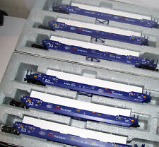 KATO 309055 309056 HO Gunderson MAXI-IV Double Stack 6 unit Set Pacer Stacktrain