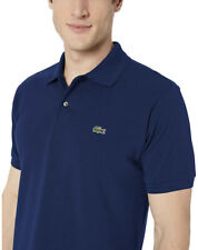 Lacoste Men's Classic Pique Slim Fit Short Sleeve Polo Shirt, Navy Blue, Medium