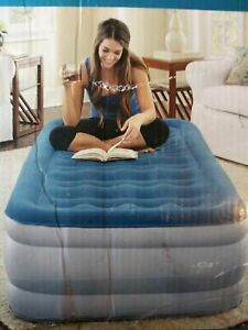 Twin Size Air Mattress Beautyrest Silver Extraordinaire with Internal Pump